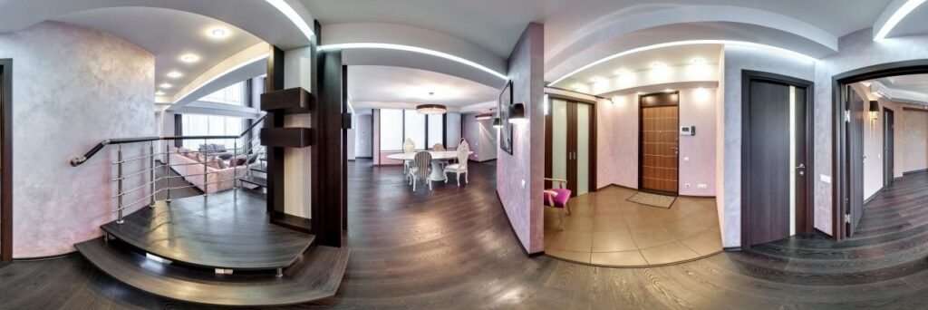Panoramic video 360 degrees for the real estate