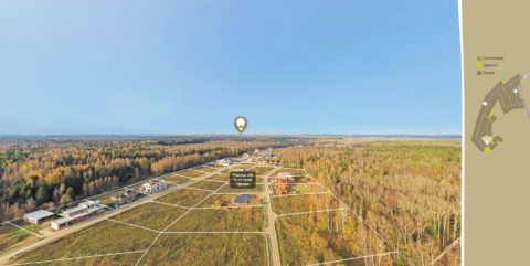 3D panorama of villa community