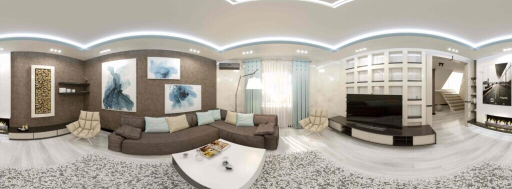 Virtual panoramas of the house