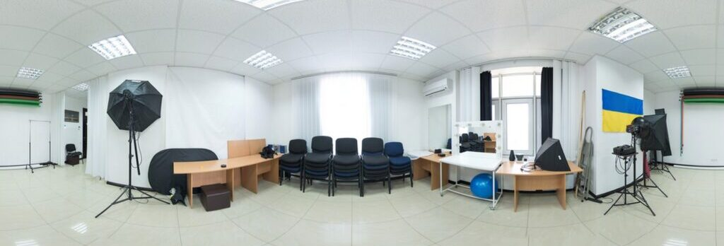 Panoramic photo of the office